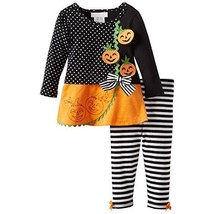 Bonnie Jean Baby-Girl Infant 12M-24M Jack-O-Lantern Pumpkin Corduroy Legging ...