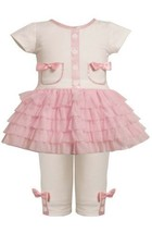 Glitter Screen Print Pocket Tutu Dress/Legging Set PK1TF,Bonnie Jean Baby-Inf...