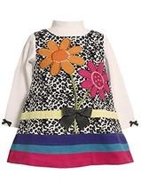 Bonnie Baby-Girls Newborn 3M-9M Sequin Flower Animal Print Jumper Dress (3-6 ...