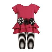 Tiered High-Low Cut Out Heart Dress/Legging Set FU0SI,Bonnie Jean Baby-Newbor...
