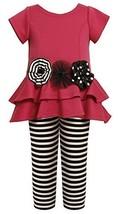 Tiered High-Low Cut Out Heart Dress/Legging Set FU3FV,Bonnie Jean Little Girl...