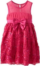 Bonnie Jean Little Girls' Bonaz Dress, Fuchsia, 6X [Apparel]