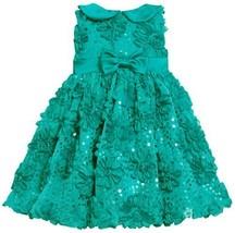 Teal Sequin Bonaz Soutache Mesh Overlay Dress TL1MH, Bonnie Jean Baby-Infant ...