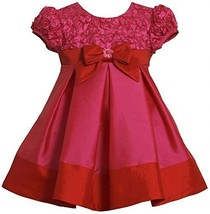Bonnie Jean Baby Girls Fuchsia Sequin Bonaz Iridescent Colorblock Taffeta Dre...