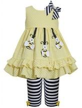 Yellow Hanging Bumble Bee Seersucker Dress/Legging Set YL2BU, Yellow, Bonnie ...