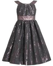 Mauve Floral Brocade and Iridescent Metallic Lame Dress MV4TA Bonnie Jean Twe...
