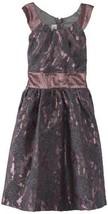 Bonnie Jean Big Girls' Allover Sparkle Dress with Circle Collar, Mauve, 10