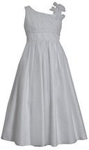 Tween Big Girls 7-16 White Asymmetric One Shoulder Communion Dress (10, White)