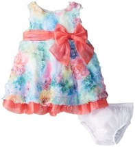 Bonnie Baby Baby-Girls Newborn Printed Bonaz Dress, Fuchsia, 6-9 Months
