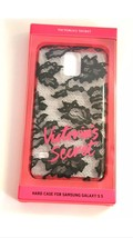 VICTORIAS SECRET Black Lace Samsung Galaxy S5 Hard Shell Case Cover Vict... - $19.78