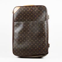 """VINTAGE Louis Vuitton Brown Monogram Coated Canvas """"Pegase 55"""" Suitcase - $1,905.00"""
