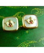 QUALITY Masons Cufflinks Mop Vintage Masonic Fraternal Men's Shirt Acces... - $65.00