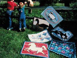 Needlepoint Cat Horse Duck Lamb Log Cabin Folk Art Baskets Rag Rugs Patterns - $11.99