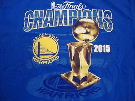 NBA Golden State Warriors National Basketball Fan 2015 Champions Blue T Shirt M - $15.10