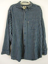 Woolrich Shirt Large Blue Plaid Button Down Flannel Long Sleeve Mens L  - $39.99