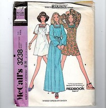 70s Hippie Dress Smock Pattern Butterick #3238 Redbook Mag Granny Chic U... - $14.36