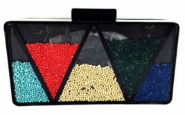 La Regale BM Triangle Shake It Up Clutch - $60.00