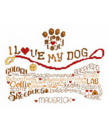 Let's Wag More dog cross stitch chart Imaginating - $5.40