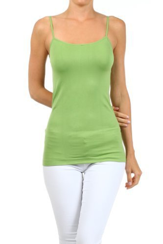 Primary image for Fashion Mic Womens Solid Color Nylon Cami Top (one size, apple green) [Apparel]