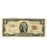 1953 C $2 DOLLAR BILL RED SEAL 508A - €10,19 EUR