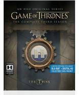 Game of Thrones: The Complete Third Season 3 BLU-RAY + DIGITAL + SLIPCOV... - $29.45