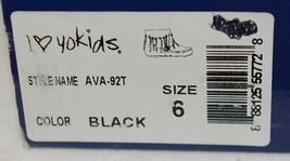 I Love Yo Kids AVA 92T Girls Fringe Boot Black Zip Up Size Six image 10