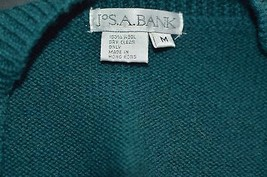 JOS.A.BANK MEN'S SWEATER VEST SIZE M 100% WOOL - $9.90