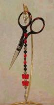 Emilia Gingher Long Scissor Fob cross stitch needlework My Big Toe Designs - $18.00