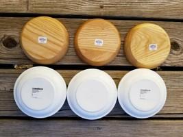 """CRATE AND BARREL 5"""" Diameter Hot Dip Bowls Lot of 3 - $33.32"""