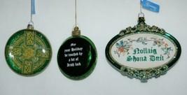 Roman 3 Piece Christmas Irish Theme Ornament Set Cross Bell Ornamental image 1