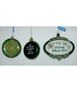 Roman 3 Piece Christmas Irish Theme Ornament Set Cross Bell Ornamental - $19.99