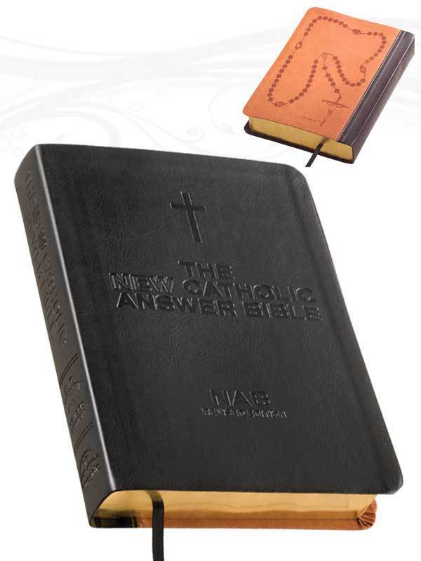 The new catholic answer bible librosario nabre  black  large print by fireside