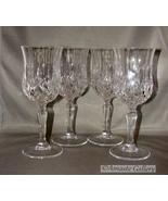 Set of 6  Royal Crystal Rock(RCR) Opera Pattern Crystal Cut Water/Wine G... - $26.99