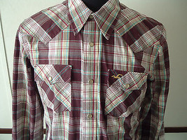 Mens pearl snap button western rodeo rockabilly shirt hollister brand - $24.70