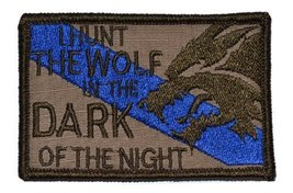 Sheepdog I Hunt the Wolf Thin Blue Line 2x3 Military Patch / Morale Patch - M... - $4.89