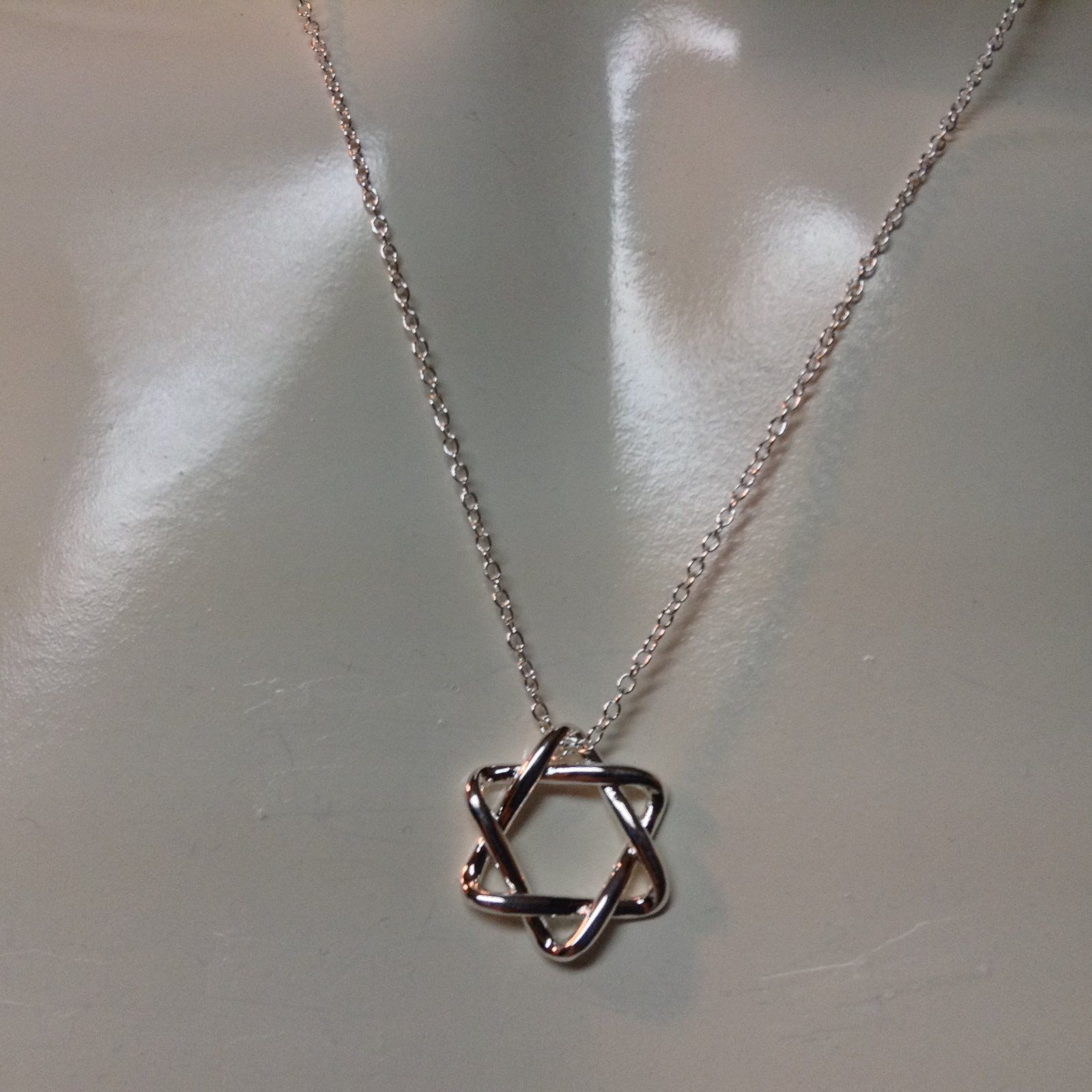 Star of David Sterling Silver Stamped 925 Necklace NWT