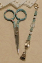 Casandra Gingher Long Scissor Fob cross stitch needlework My Big Toe Designs - $18.00