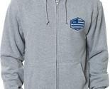 RVCA HEX STRIPE Mens Hoodie Athletic Grey Size Medium NEW