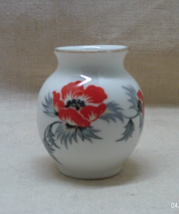 Vintage Thomas Bavaria  Miniature Red Poppy Flower Vase // Toothpick Holder - $5.50