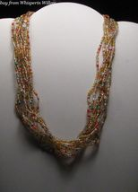 Colorful Autumn's Carnival Necklace / Earrings Jewelry Set - $15.95