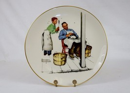 "Norman Rockwell Collector Plate, 1979 ""Swatter's Rights"", Gorham China ~ #DJP05 - $19.55"