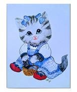 Oz Kitten Dorothy Watercolor Artwork - $25.00