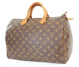 正宗LOUIS VUITTON Speedy 35 Monogram Boston手袋钱包#38303-$ 389.00