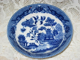 "Blue Willow-Flow Blue- Fruit/Dessert Bowl - 5 3/4"" -Japan - $8.00"