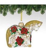 Trail of Painted Ponies from Enesco Poinsettia Glass Christmas 3 IN [Misc.] - $39.99