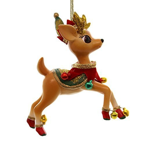 Holiday Ornaments JOLLY REINDEER TALES ORNAMENT Resin Christmas 4045466 Donder