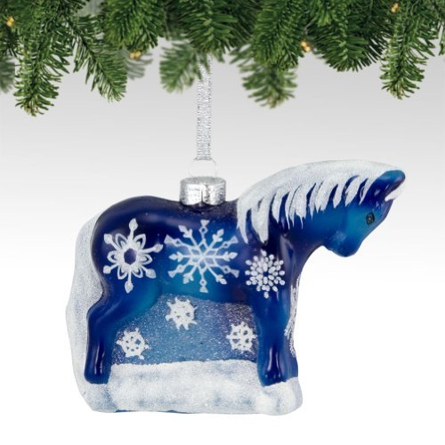 Trail of Painted Ponies from Enesco Snowflake Glass Christmas 3.2 IN [Misc.]