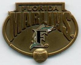 MLB Licensed Pin Florida Marlins Baseball Pewter Pin - $5.00