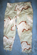 US MILITARY TROUSERS DESERT CAMOUFLAGE PATTERN COMBAT PANTS - LARGE SHORT - $9.90