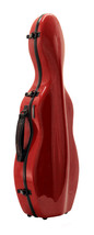 TONARELI Fiberglass Violin 4/4 Case: Red w/ speckled dots NEW - $259.00